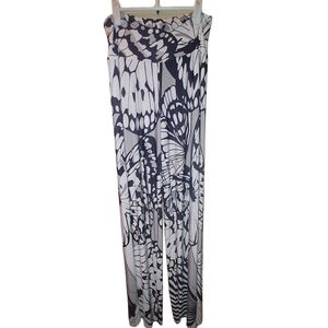Analili Monarch Palazzo Pants Black White L